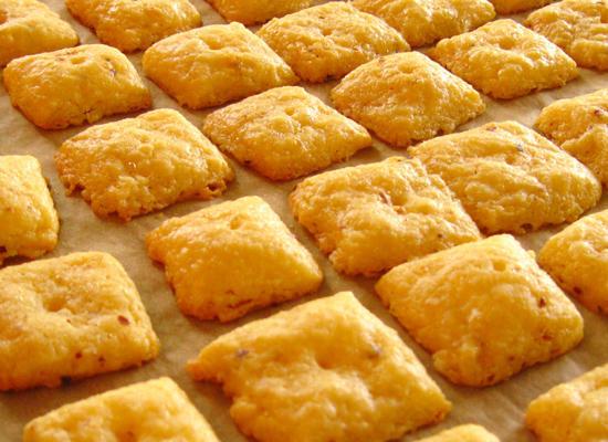 Сырное печенье из плавленного сыра