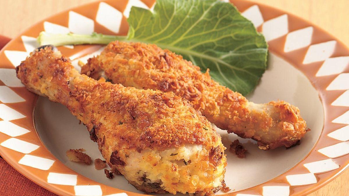 Рецепт куриных голеней в панировке
