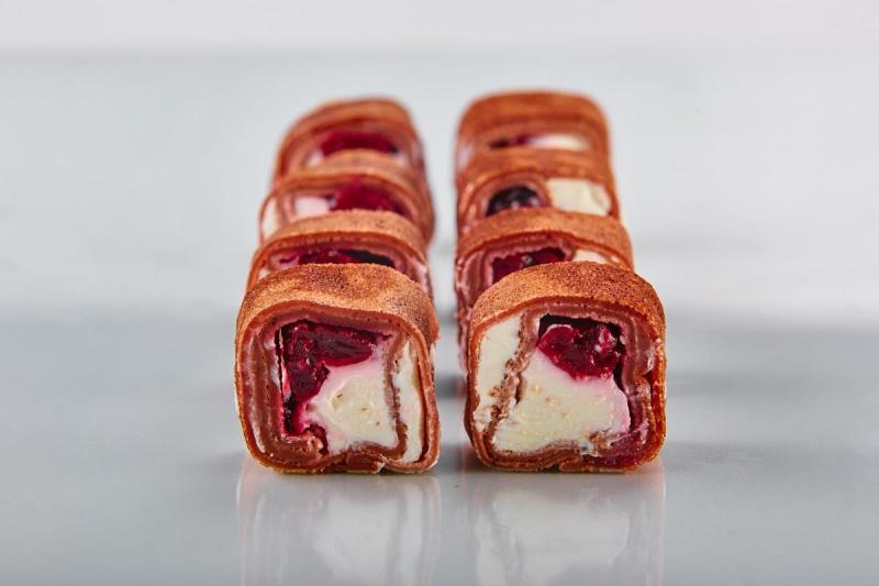 Десертные блин-роллы с шоколадом