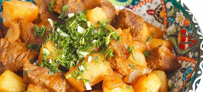 Картошка по-татарски