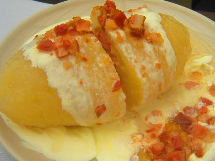 Картофельные цеппелины с мясом