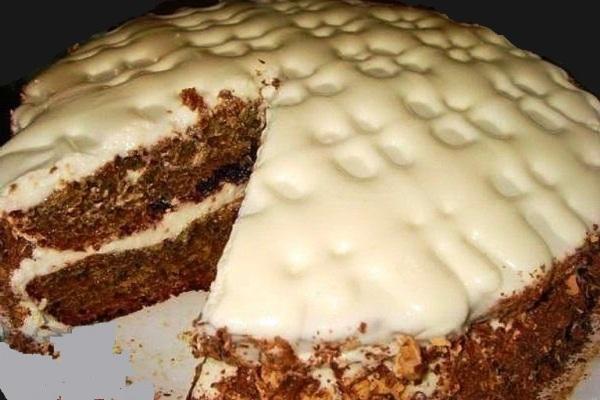 Просто торт «Быстрый» с какао