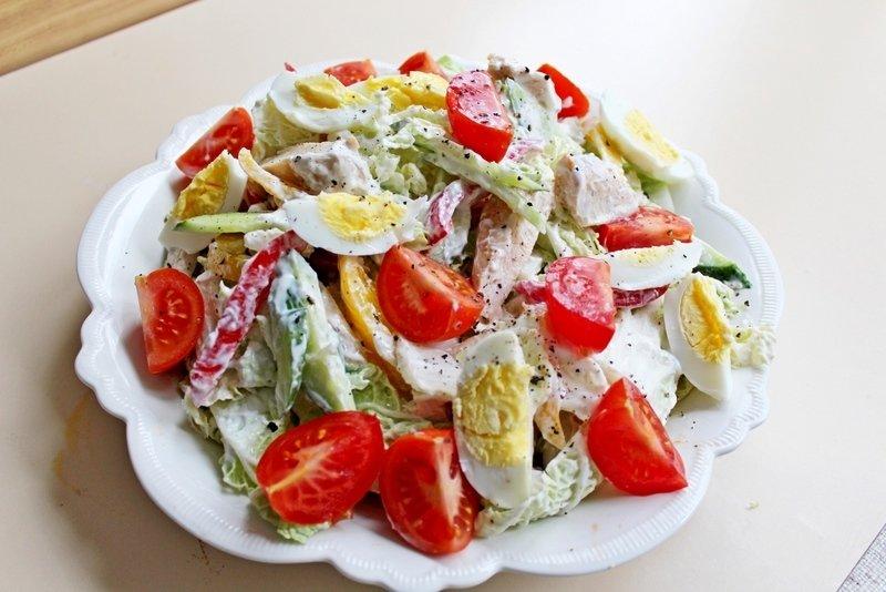 Куриный салат диетический