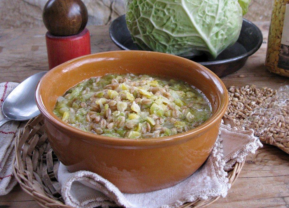 Вкусный суп из полбы с овощами