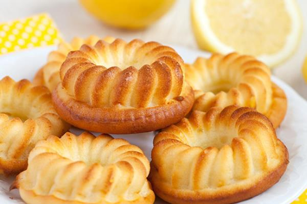 Нежные лимонные кексы с творогом