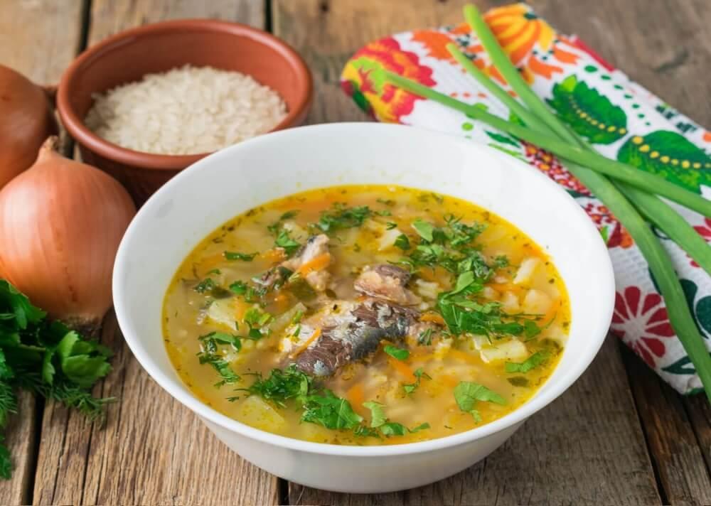 Суп с сардиной и хеком