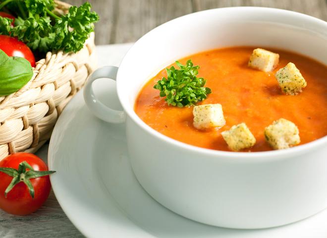 Тыквенный суп-пюре: рецепт с томатами