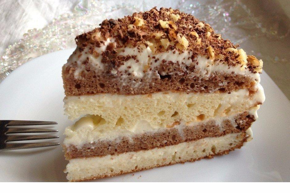 торт сметанковый пошаговый рецепт с фото всего
