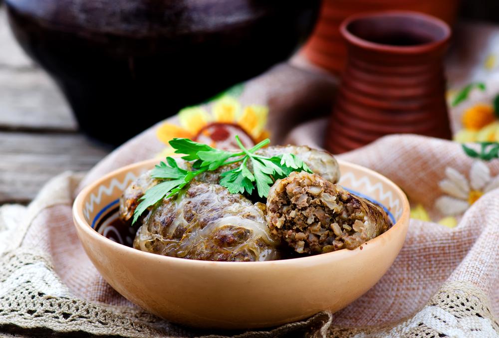 Салат овощной с морским грибом