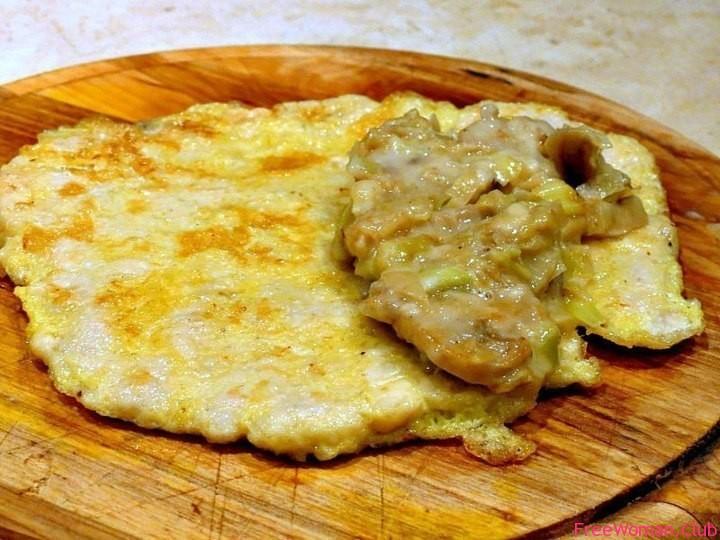 Бризоль из курицы с сыром и грибами