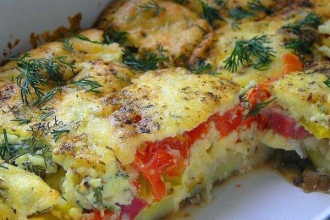 Диетическая овощная запеканка к ужину