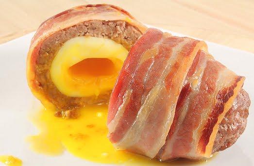 Яйцо с ветчиной