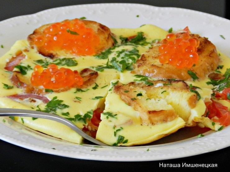 Мясная лазанья под белым соусом