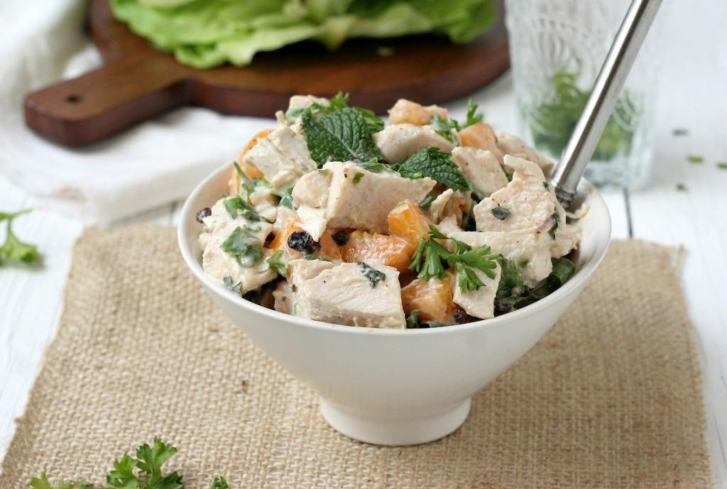Салат с грибами и окороком