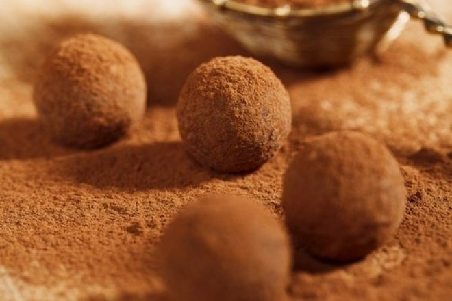 Трюфели из горького шоколада без сахара