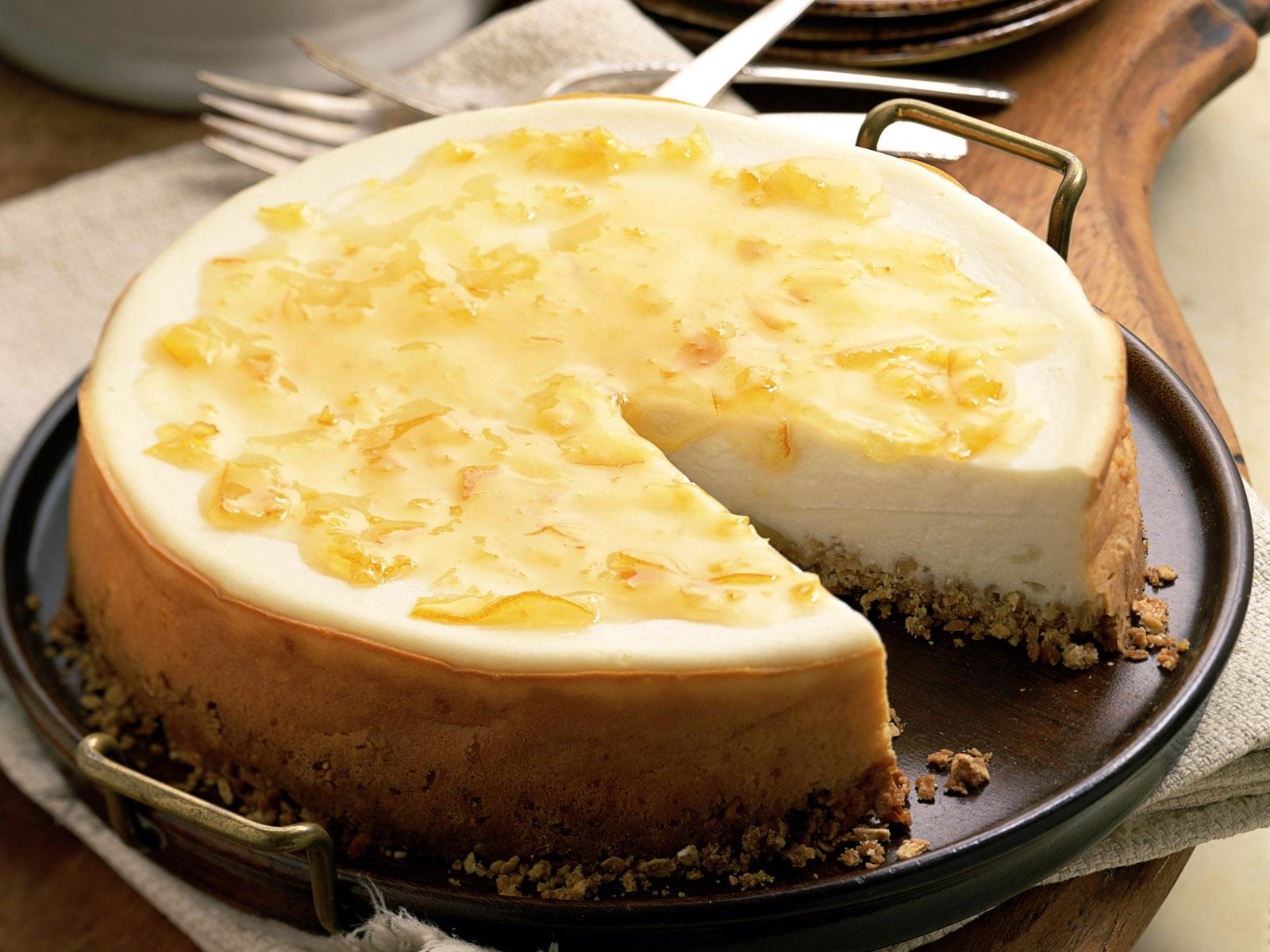 Легкий сырный торт
