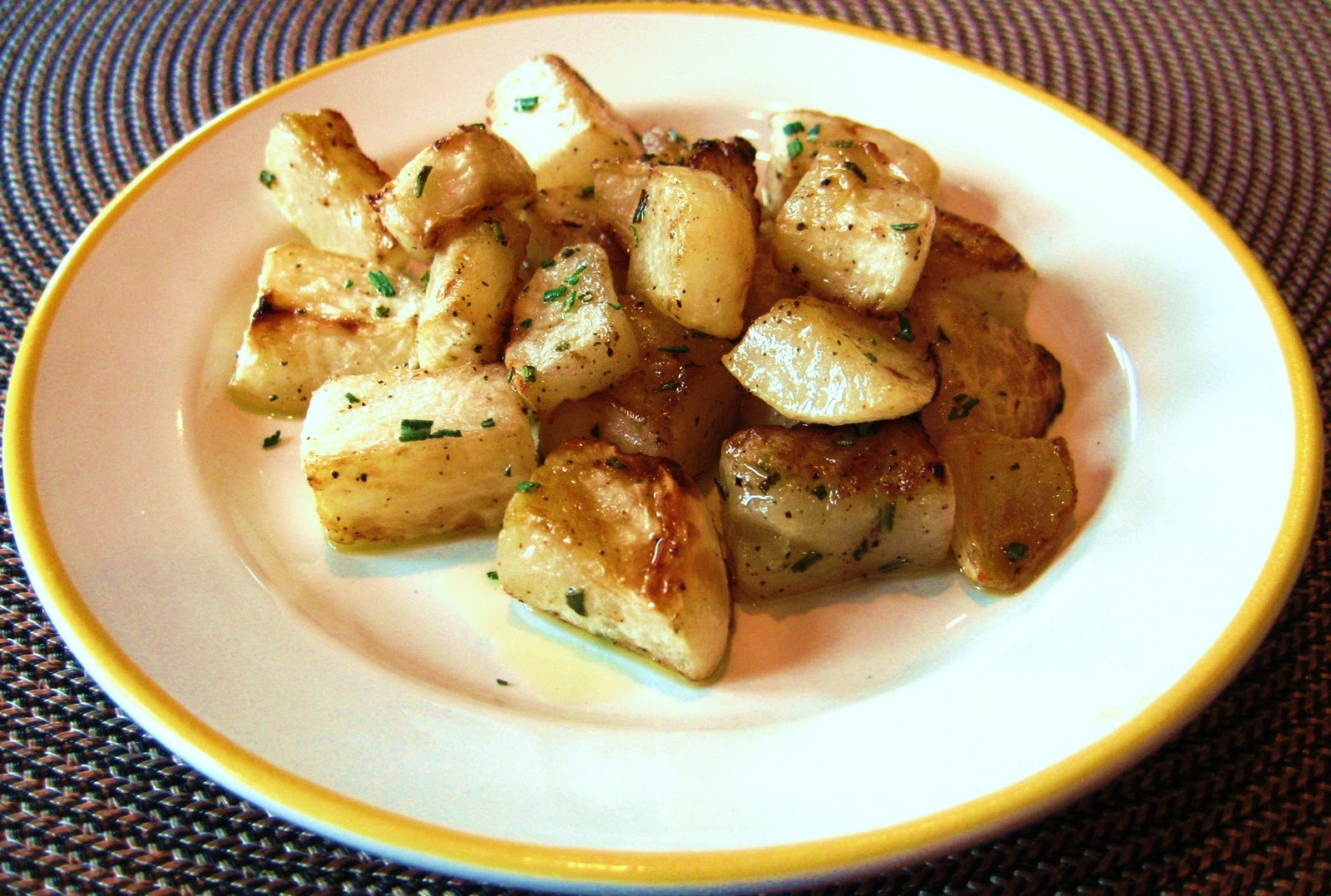 Картофель запеченный с репой