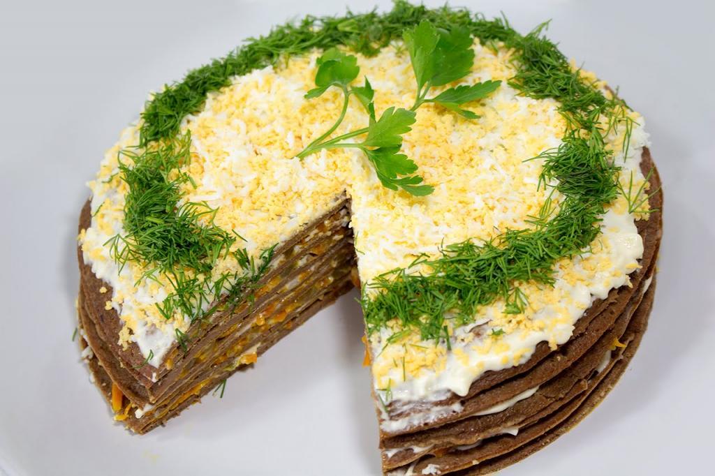 Тарты с печенью и грибами