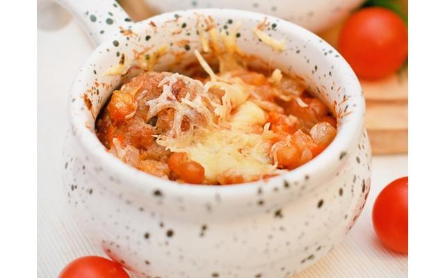 Свинина с сыром и картофелем в горшочках