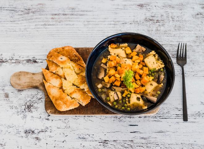 Рецепт классического супа с равиоли