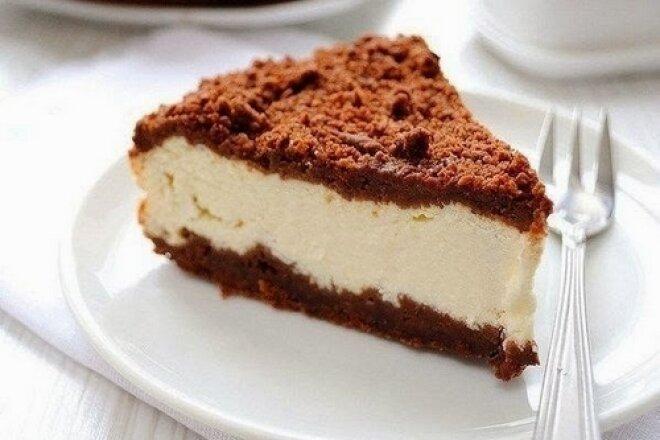 Классический шоколадно-творожный пирог