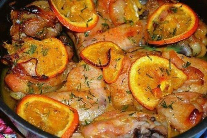 Аппетитная курица в апельсиновом маринаде