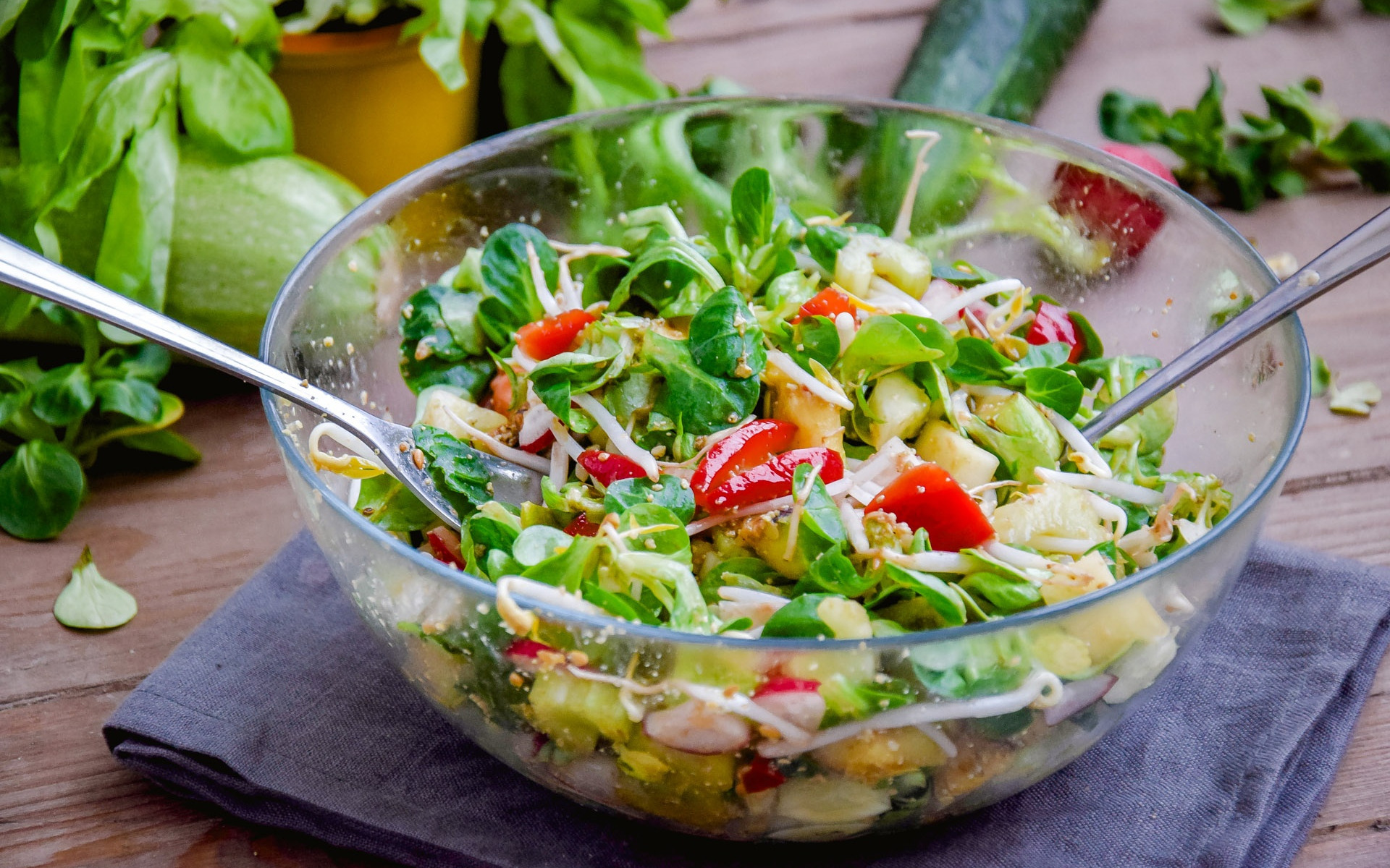 Овощной салат ароматный