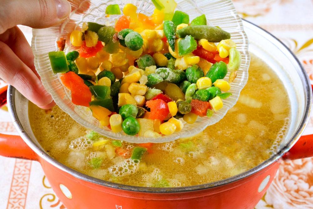 Суп с мексиканской смесью