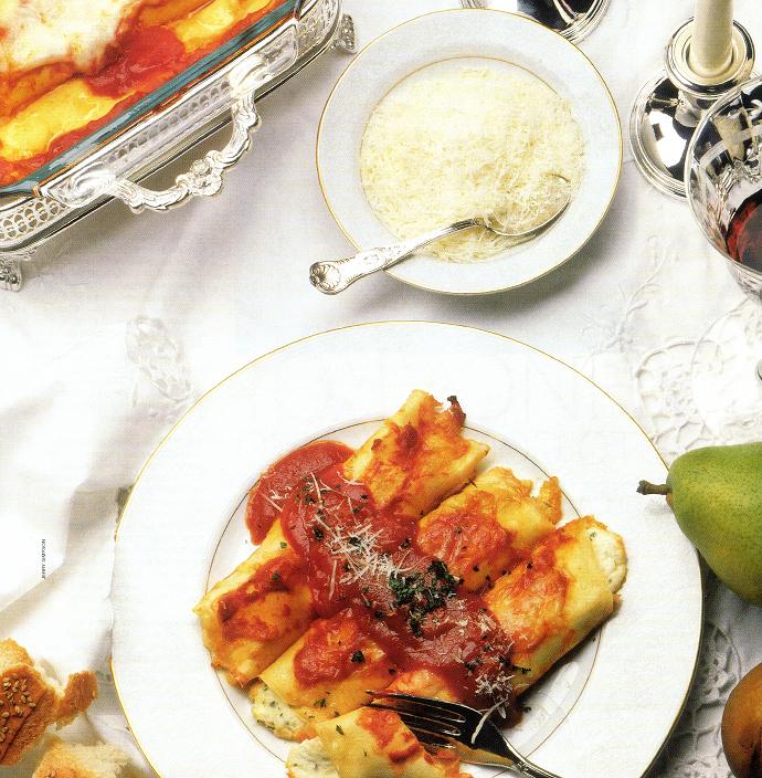 Итальянские блинчики с сыром