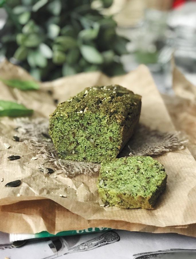 Зеленый кето-хлеб