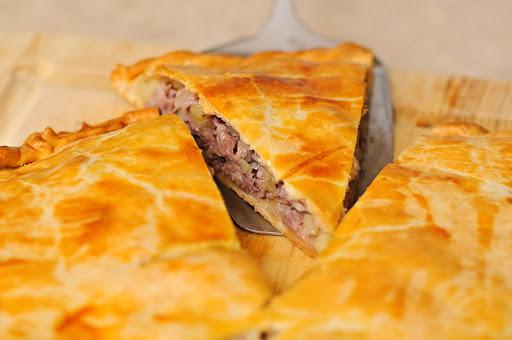 Пирог с картошкой+мясом