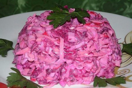 Салат «Розовый фламинго «