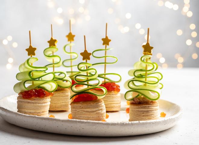 Лучшие рецепты канапе с лососем на новогодний стол