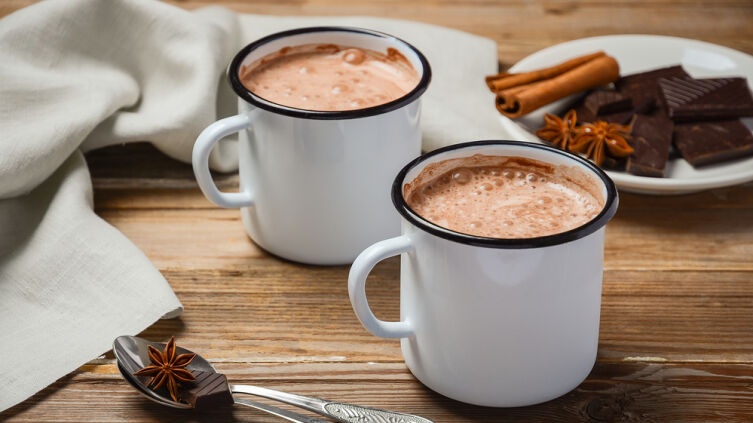 Оригинальный горячий сметанно-шоколадный напиток
