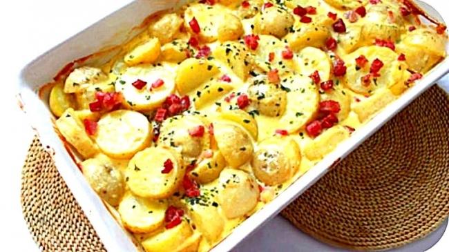 Рецепт картошки карбонара
