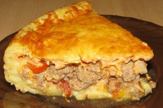 Оригинальный пирог с мясом и овощами