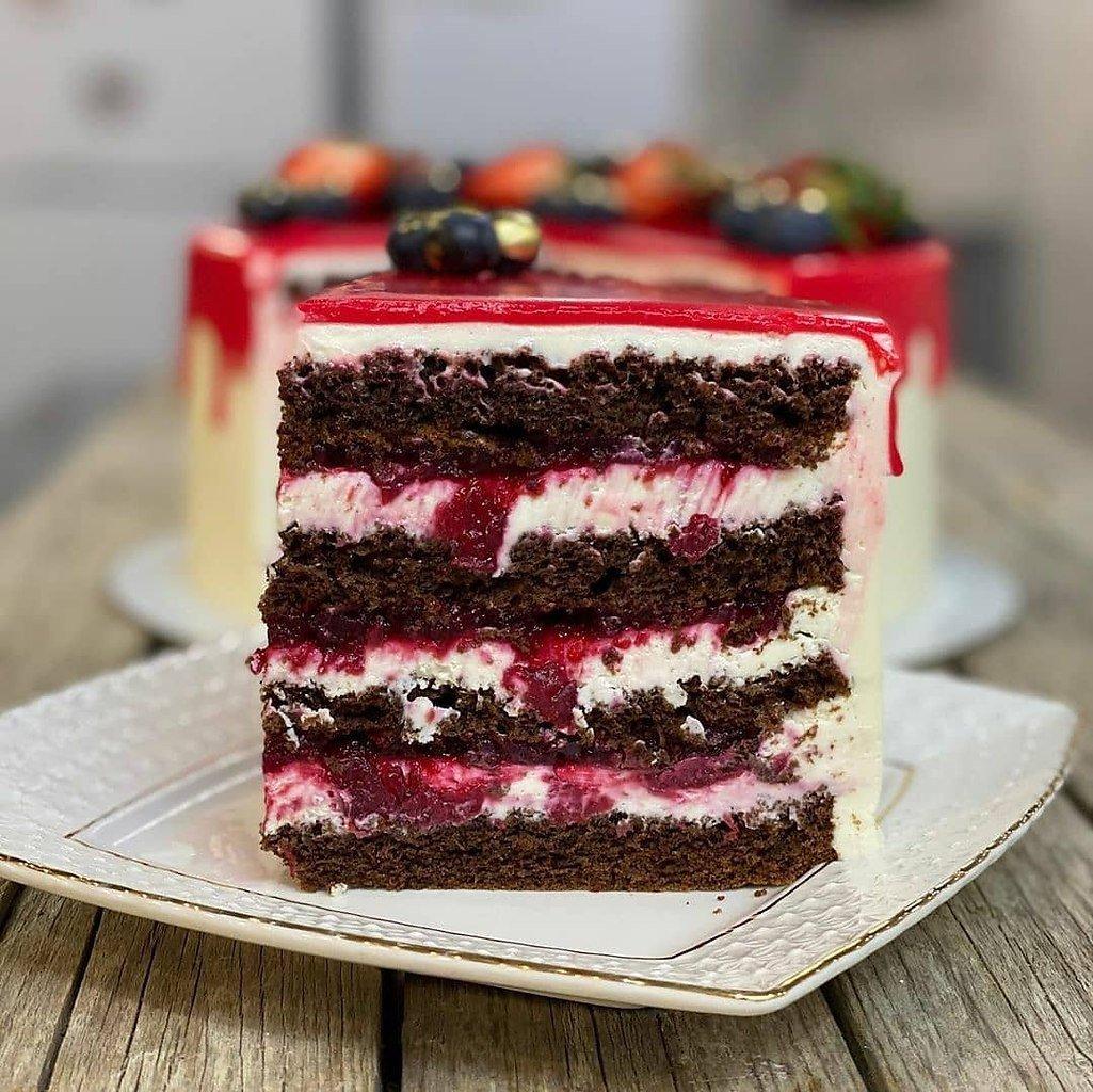 Торт «Вишневый каприз»