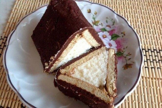 Творожный торт «Домик» без выпечки