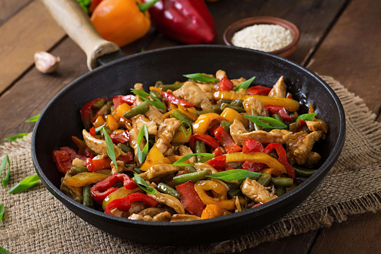 Индейка в азиатском соусе с овощами