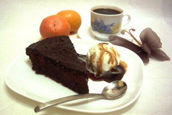 Пирог «Аромат страсти» шоколадный