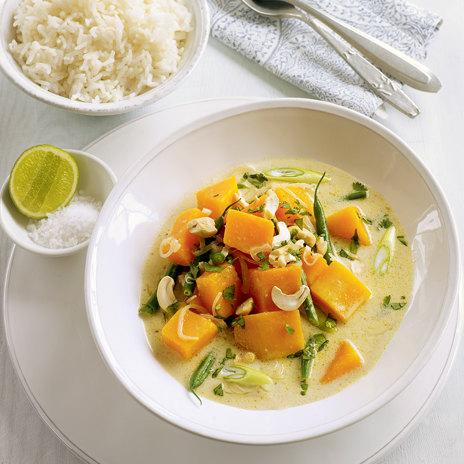 Тайский суп с фасолью