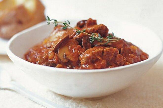 Мясо с картофелем и лапшой по-туркменски в мультиварке