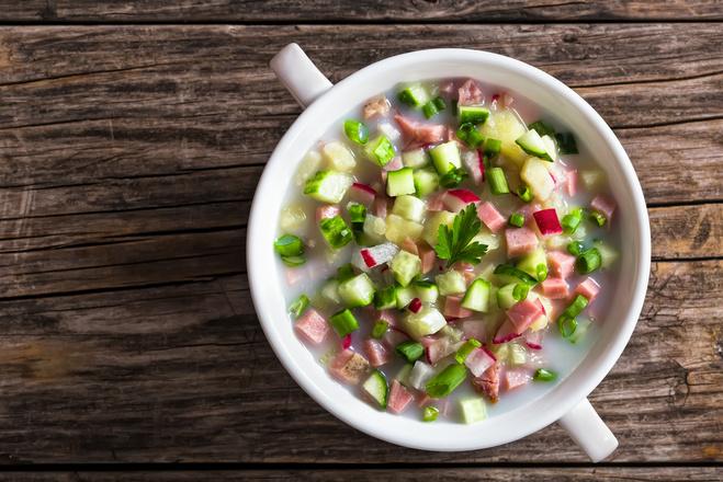 Холодный суп: рецепт окрошки