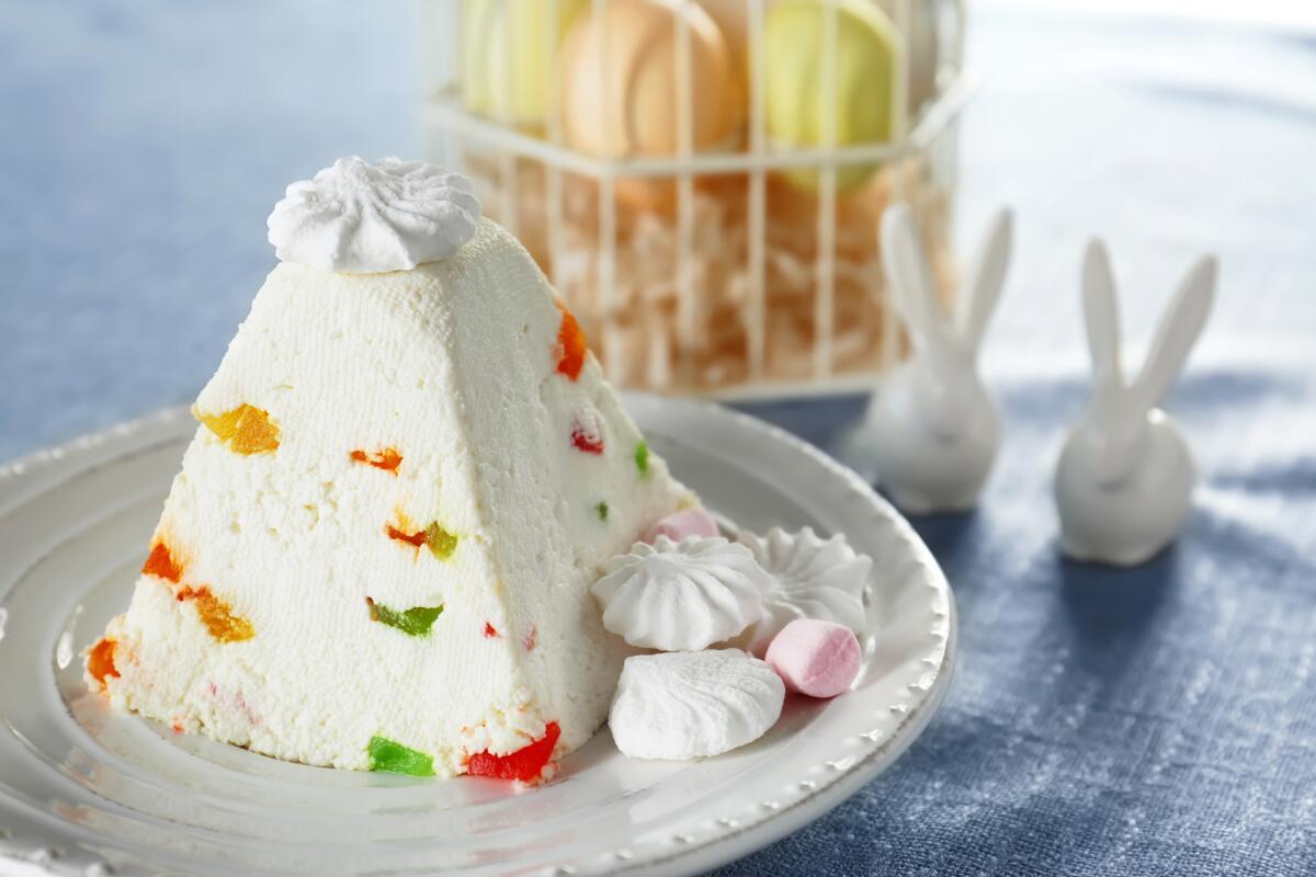 Мармелад-сливочный десерт на Пасху