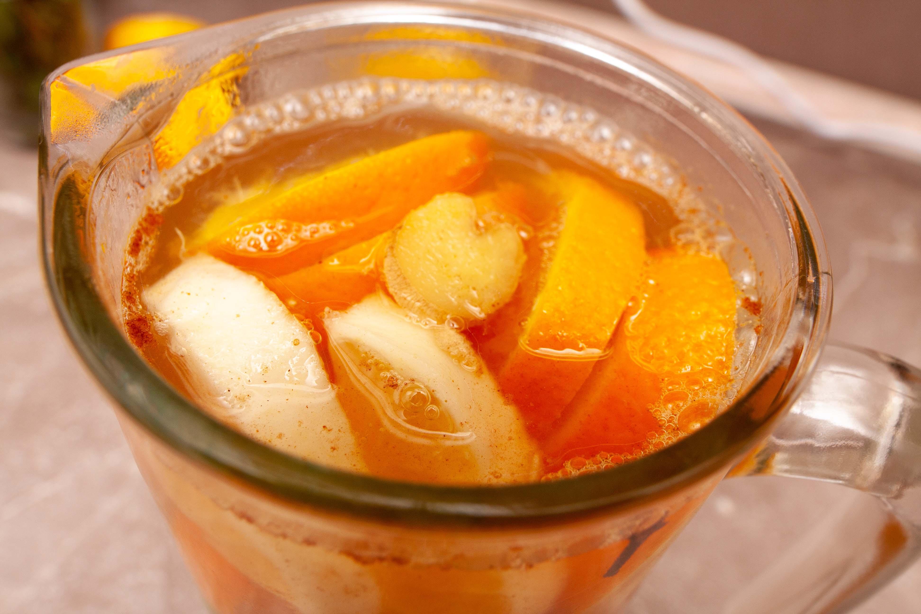 Салат из апельсинов с медом и имбирем