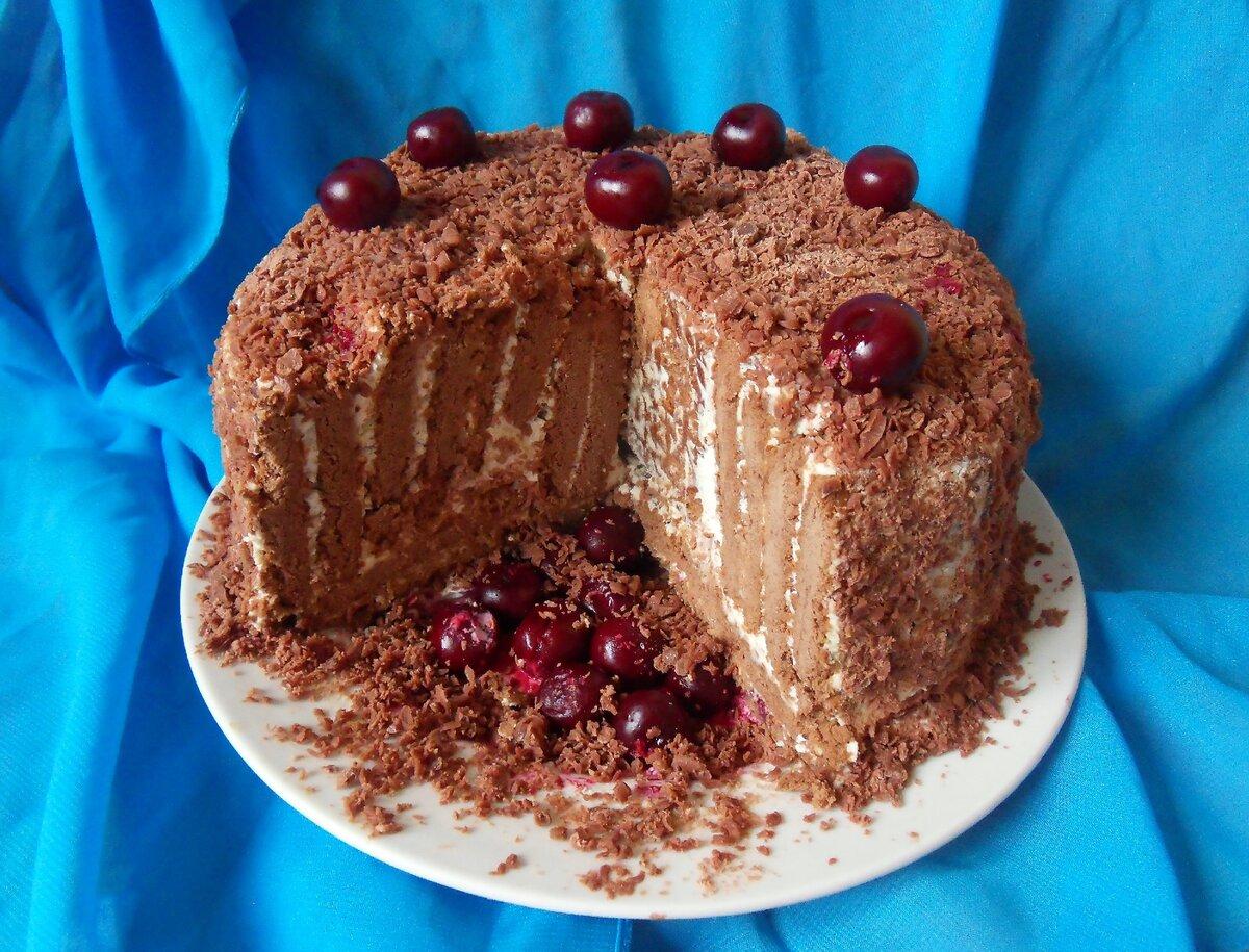 «Полосатый» торт(без выпечки)