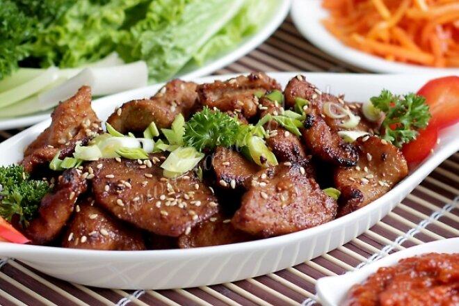 Сочная свинина по-корейски