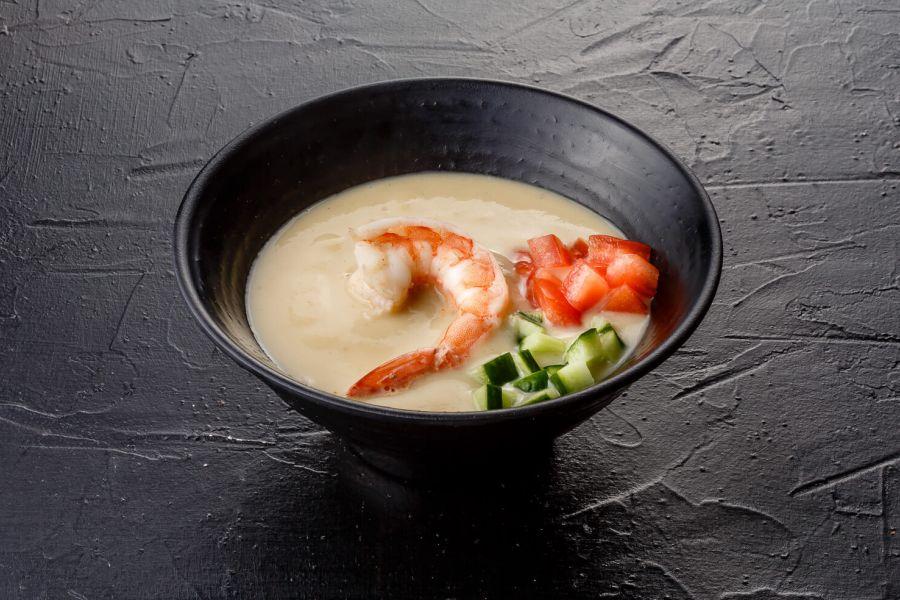 Привет из Прибалтики, или картофельный суп-пюре с креветками