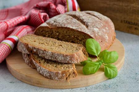 Черный хлеб из духовки
