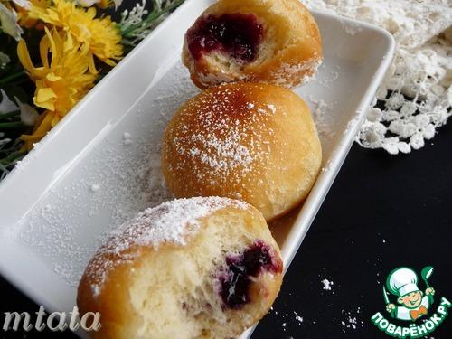 Пончики с джемом «Берлинеры»